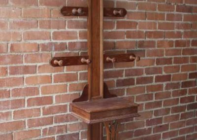 Hat Stand wooden table with cast iron legs F22/1  | H: 1992mm  L: 793mm W:  295mm